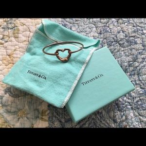 Tiffany Elsa Peretti open heart bracelet diamond